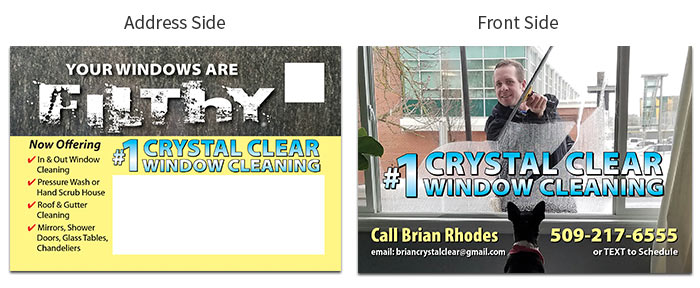 window cleaning postcard