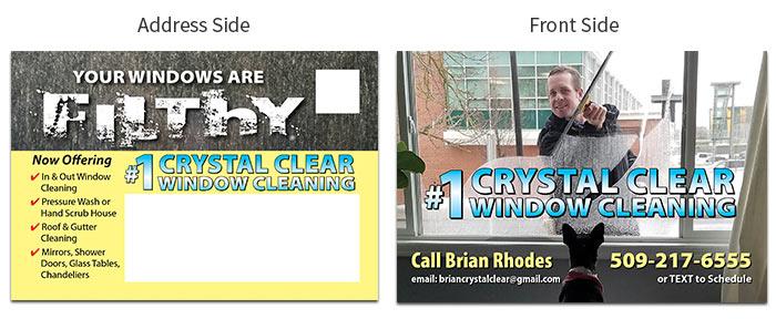 window cleaning postcard